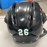 Used Black Warrior Covert PX2 Helmet with Visor - Utah Grizzlies - Small