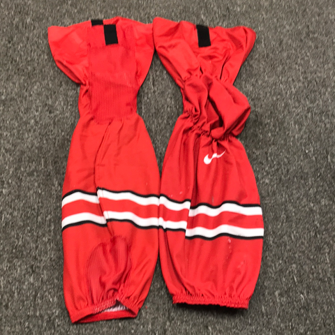 Used OSU Red Game Socks - Short - 25""