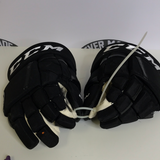 "CCM HG12 Black Gloves - 14""- G15"