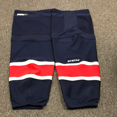 Used CCM Rangers Colors Socks - X-Large +