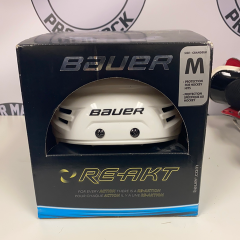 New Bauer White Reakt Helmet - Medium