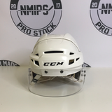 CCM V08 White Helmet With Visor - Large - H17