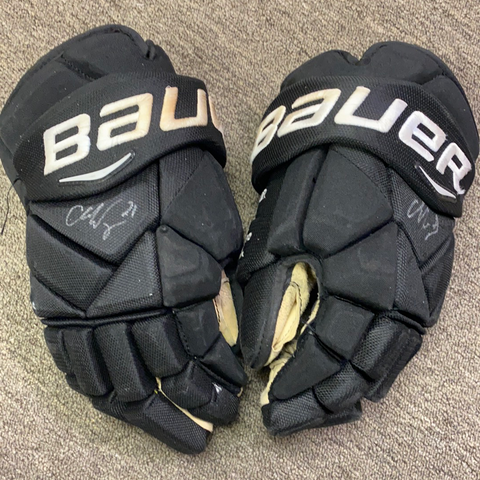 Chris Wagner Autographed & Game Used Glove - Bauer 1X Pro Vapor 14""
