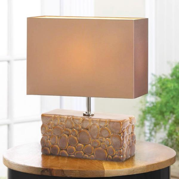 River Rock Table Lamp