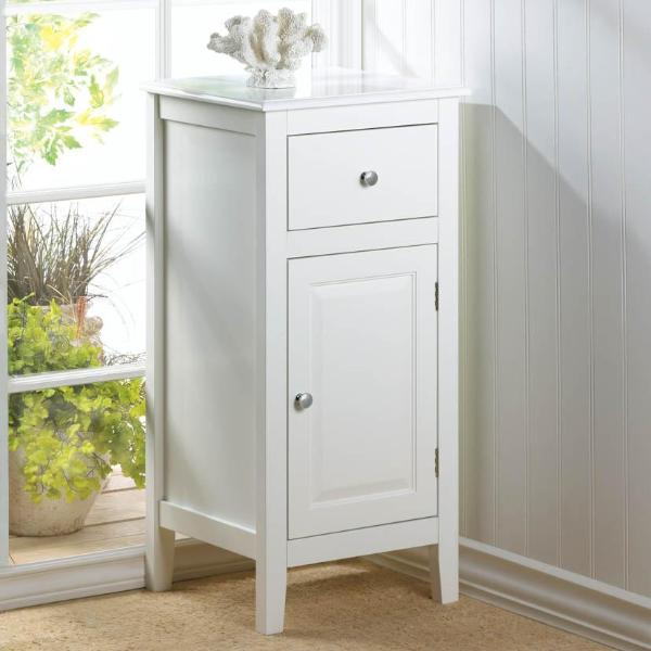 Lakefront White Side Table