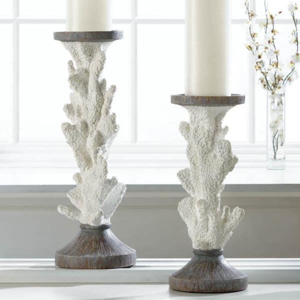 Coral Candle Holders