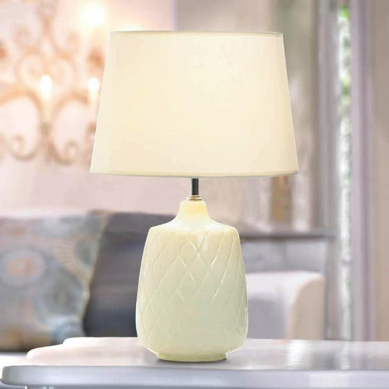 Quilted Diamonds Table Lamp