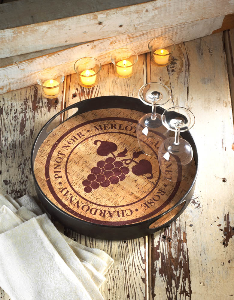 Vineyard Metal Serving Tray
