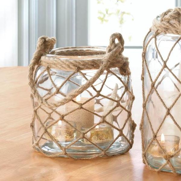 Small Fisherman Net Candle Lantern