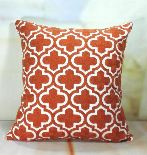 Moroccan Pattern Embroidered Pillows