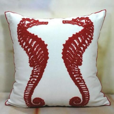 Seahorse Coastal Pillows
