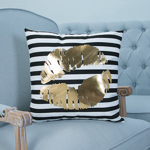 Bronze Stripe Kiss Pillow