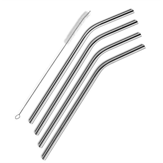 4 pcs Stainless Steel Drinking Straws Reusable for Yeti 30oz