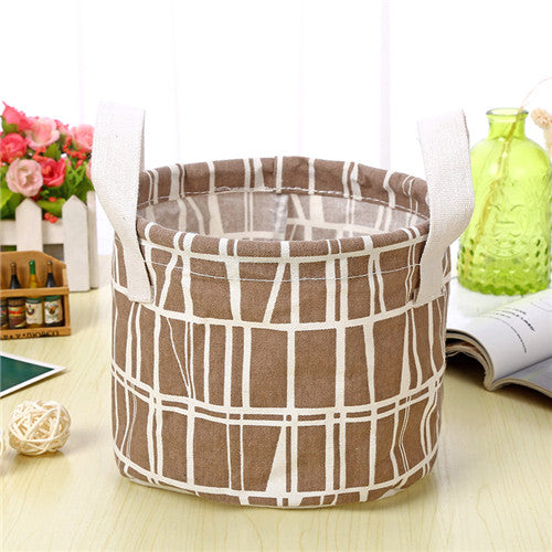 Round Fabric Storage Basket