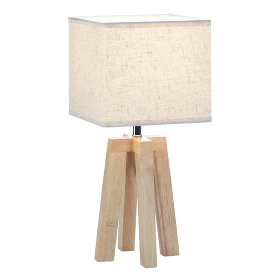 Wooden Geo Table Lamp
