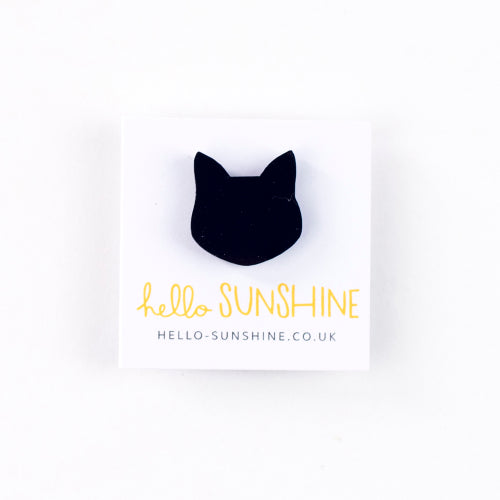 Little Black Cat Lapel Pin