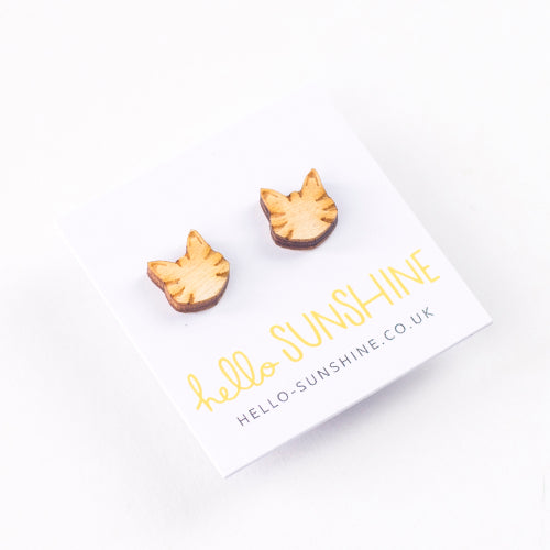 Little Tabby Cat Studs