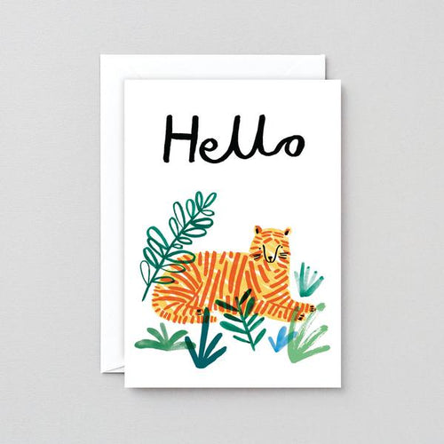 Hello Tiger Greetings Card