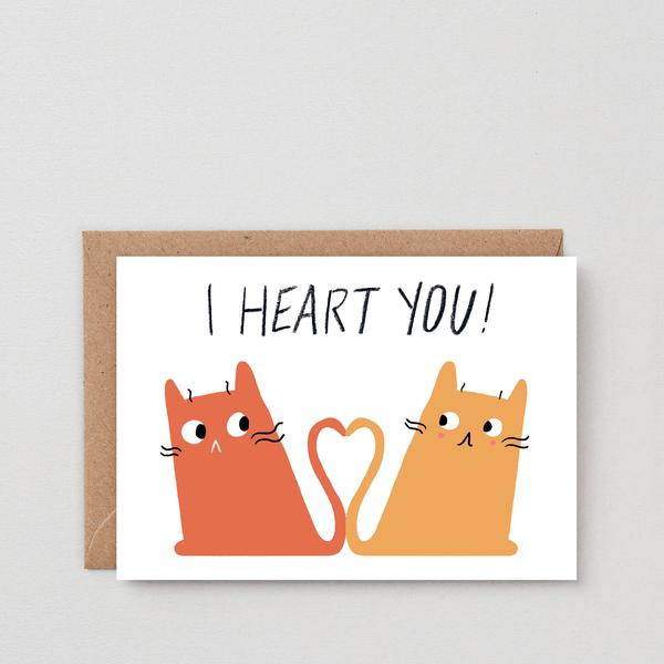 I Heart You Greetings Card