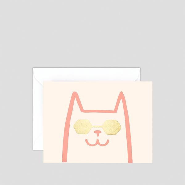 Cat Mini Letterpress Card