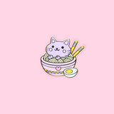 Ramen Noodles Foodie Cat Pin