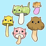 Mushroom Kitty Sticker Set