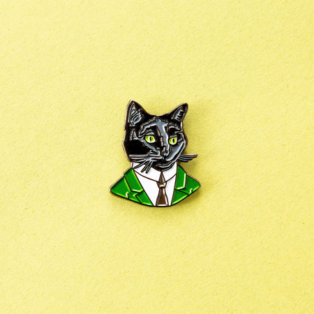 Georgia O'Cat Cat Enamel Pin