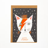 Kitty Stardust Cat Card
