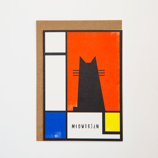 Meowdrian Cat Card