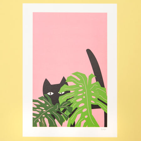 Collage Cat Print
