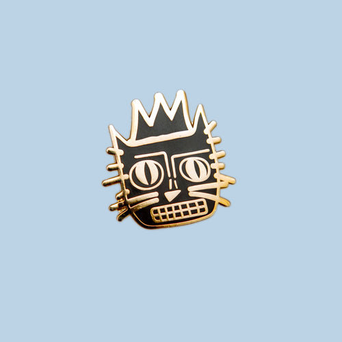 Basquiat Cat Enamel Pin