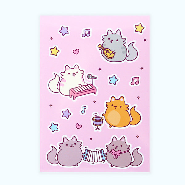 Musical Cats Sticker Sheet