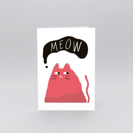 Thank You Cat Greetings Card