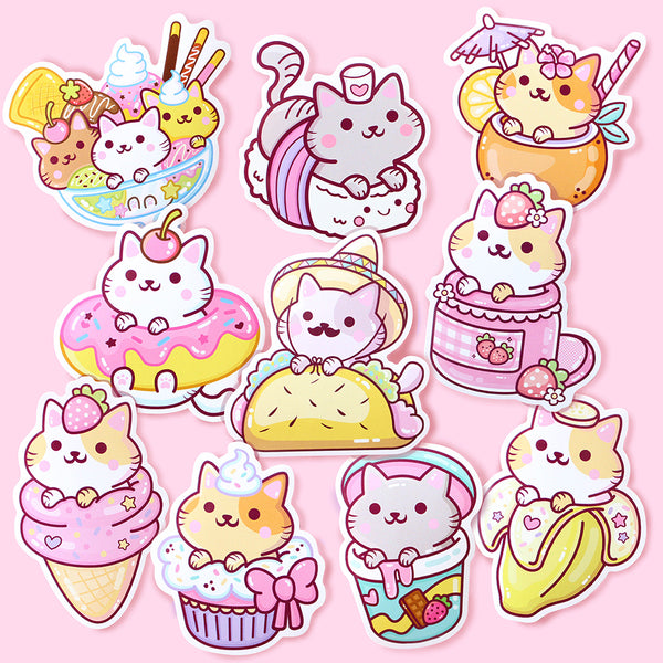 Yum Yum Cats Sticker Set 1