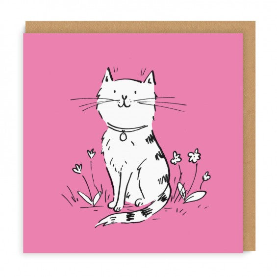 Battersea Field Cat Square Greeting Card