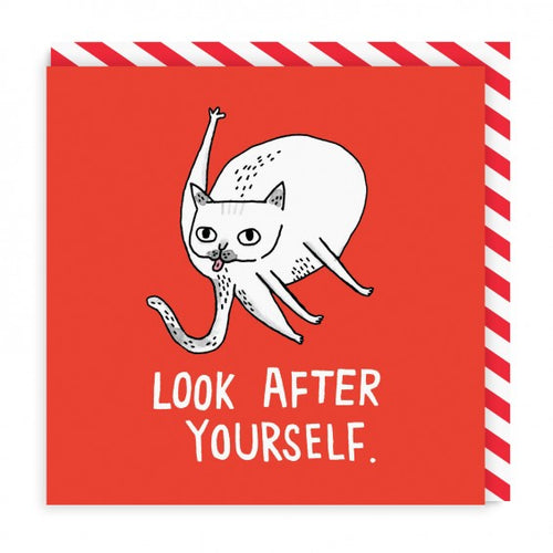 Look After Yourself Square Greeting Card