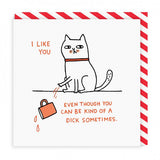 Dick Sometimes Square Greeting Card