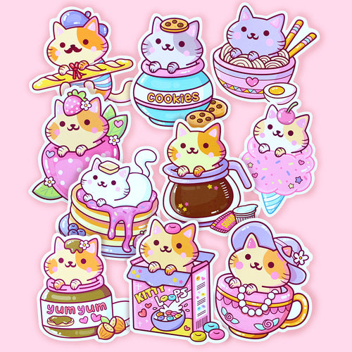 Yum Yum Cats Sticker Set 2