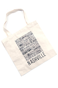 Nashville Neighborhood Tote Bag