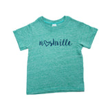 Little Bits Love Nashville Toddler Tee - Green