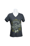 Straw Castle Wild & Free Ladies' V-Neck Tee