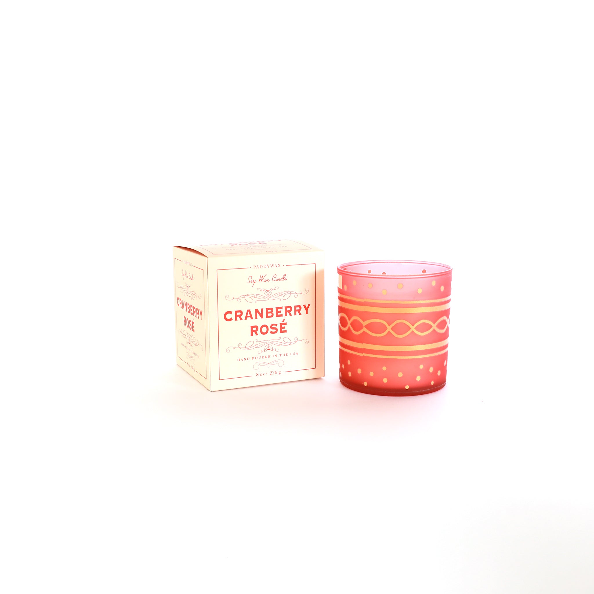 8 oz Balsam /& Berries Paddywax Candles Glee Collection Holiday Scented Candle