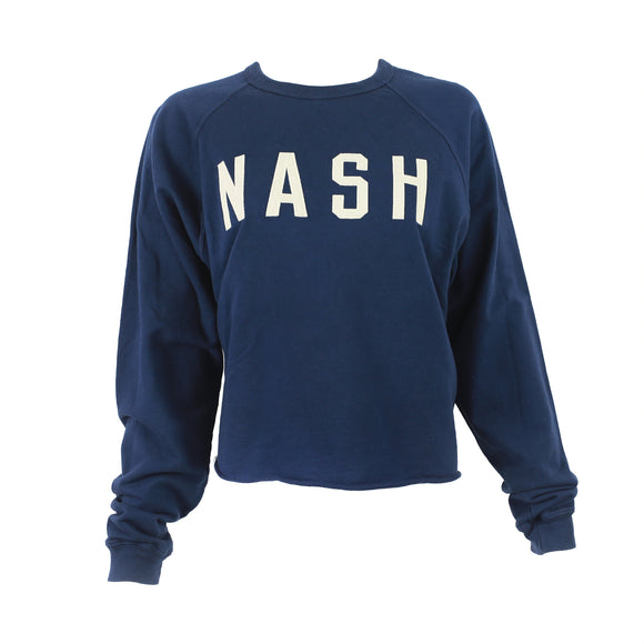Navy NASH Applique Raglan