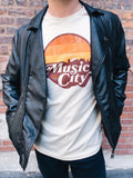 Retro Sunset Music City Tee