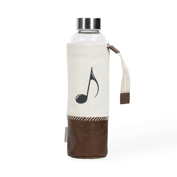 Music Note Water Bottle with Case
