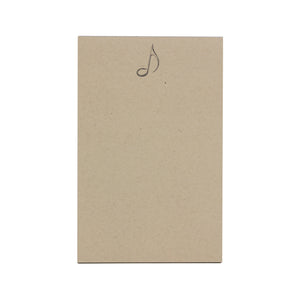 Oak & Ink Paper Music Note Small Notepad
