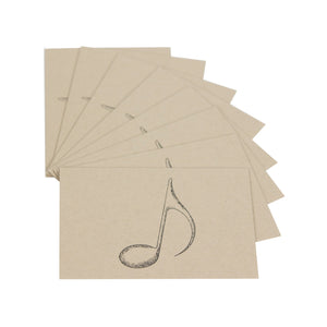 Oak & Ink Music Note Notecard 8 Count Set