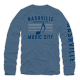 Long Sleeve Nashville Music City Pride Tee