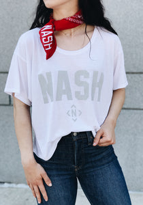 Nash Collection Oversized Crop Tee