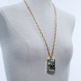 Seraphine Design Rectangle Pyrite Pendant